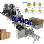 Automatic Bag Packing Carton Filling & Palletizer Packaging Line