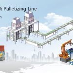Automatic pet food packaging bagging production line