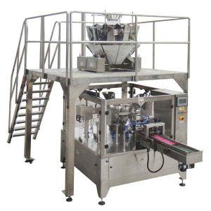 旋转式自动拉链袋填充密封包装机用于种子坚果