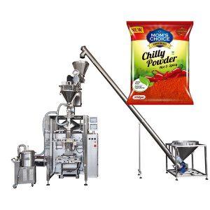 VFFS Bagger包装机,配有用于辣椒粉和辣椒食品粉的俄歇填料