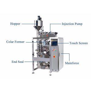 带液体填料的立式填充密封机